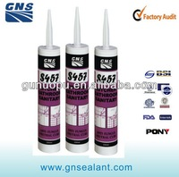 Waterproof black rtv silicone sealant for bathroom production line