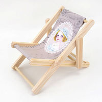 Languo anti-slip unique wooden cell phone holder