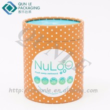 Recycled cylinder 3 piece telescopic paper tube for gift packaging