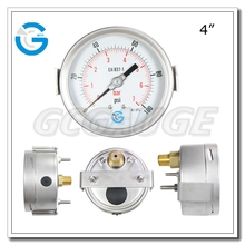 High quality stainless steel case panel mount pressure gauges with clamp