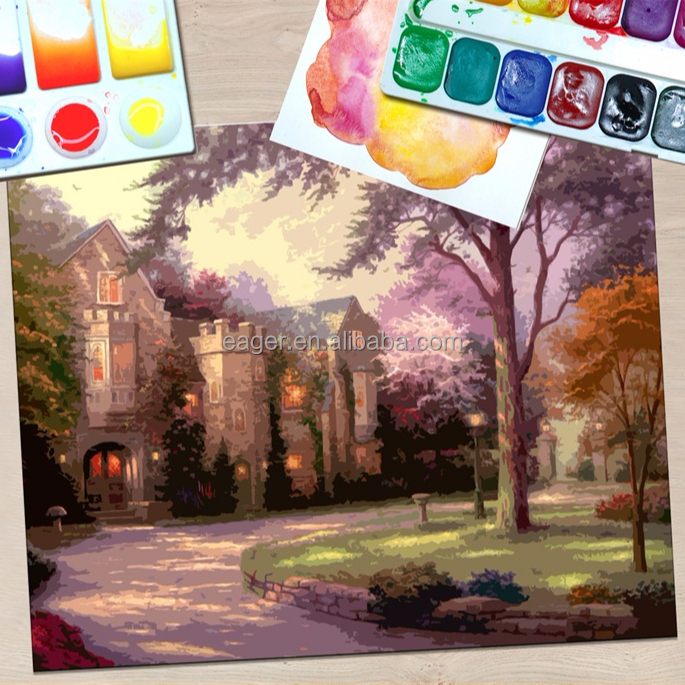 Customized DIY Paint By Numbers Landscape Picture Canvas <strong>Art</strong>