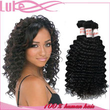 Wholesale Alibaba Unprocessed Curly Hair Deep Wave Natural Color Indian Virgin Hair/Hair Extension Alibaba Express
