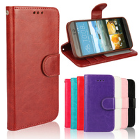 Factory Price New Wallet PU Leather Crazy Horse Case Cover For HTC One M9 With Card Holder CA282