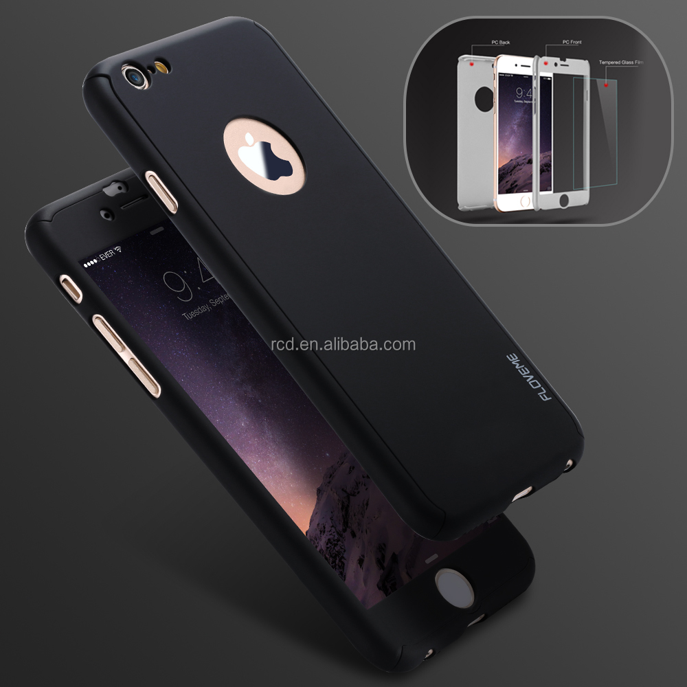 2016 new arrival light weight thin Funky 360 Degree Full Cover protected pc mobile phone case for iphone 4/5/SE/5s/6/6s/6s plus