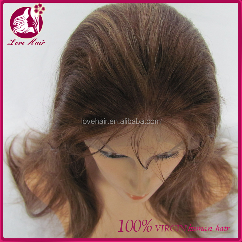 Hot selling Discount price 100% cambodian Human Virgin cambodian Hair Full Lace Wigs highlight color yaki straight