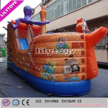 Children air bouncer inflatable trampoline, inflatable bouncer with slide
