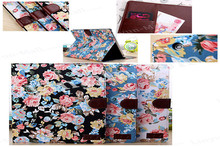 Wholesale Hot Selling Flower Leather Case for iPad 2/3/4 with Card Slots