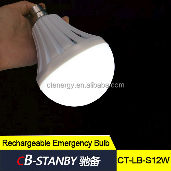Emergency facility battery power light bulb lasting 120 minutes 12W