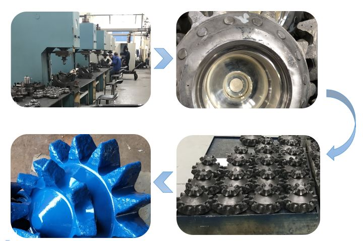 Alibaba china supplier for gas water well drilling three cone drill bit