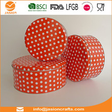color metal storage box cake tin with handle round food container