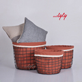 Decorative Brushed Wire Storage Basket Interior Home Decor Items