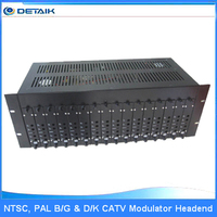16 Channels PAL / NTSC System Fixed Adjacent Modulator TV Demodulator