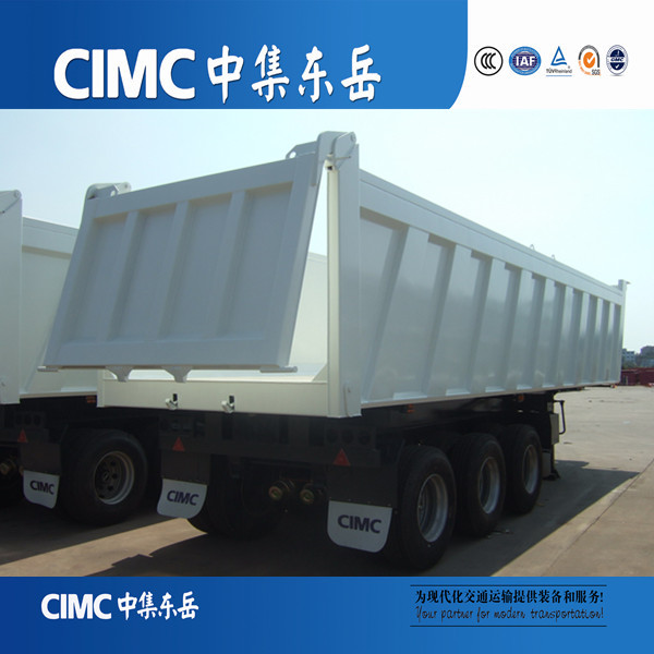 CIMC Manufacturer 3 Axle 60 Ton Tipping Semi Trailer Heavy Duty Trailer For Sale