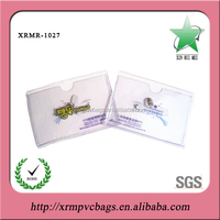 Clear plastic cover id card holder