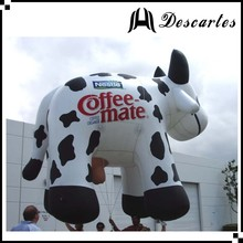 Custom large inflatable flying dairy cow, inflatable helium milk cow for parade