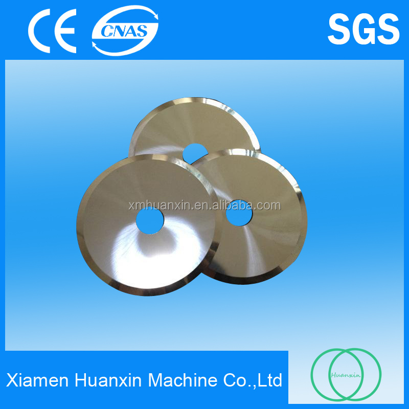 Tungsten carbide shear blades for cutting fiber with high wear resistance