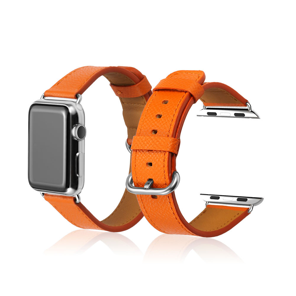 Genuine Calf Leather Watch Strap Belt 42mm For Apple Watch Band