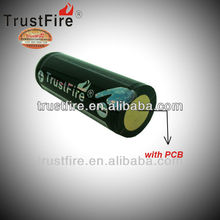new design high capacity TrustFire 26650 3.7V 4000mAh lithium battery