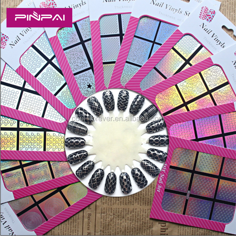 2016 New Stencil Sticker Sheet Nail Art DIY Template Sticker NF201-224 Nail Tip Decoration