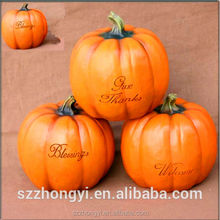 2014 China Supplier hot new products,lifelike resin artificial pumpkins wholesale miniatures food