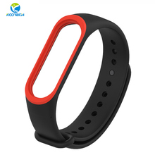 Mijobs original cheap 20mm wrist silicone smart watch band for mi band 3 strap