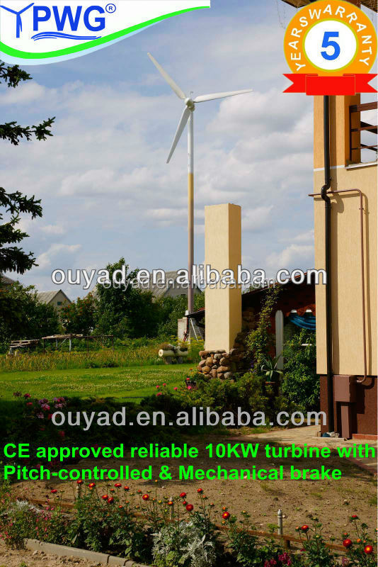 Energy saving--pitch controlled 10kw wind turbine generator price