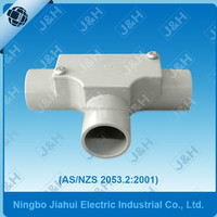 upvc conduit fitting australian standard inspection tee, AS/NZS electrical PVC conduit fitting inspection tee