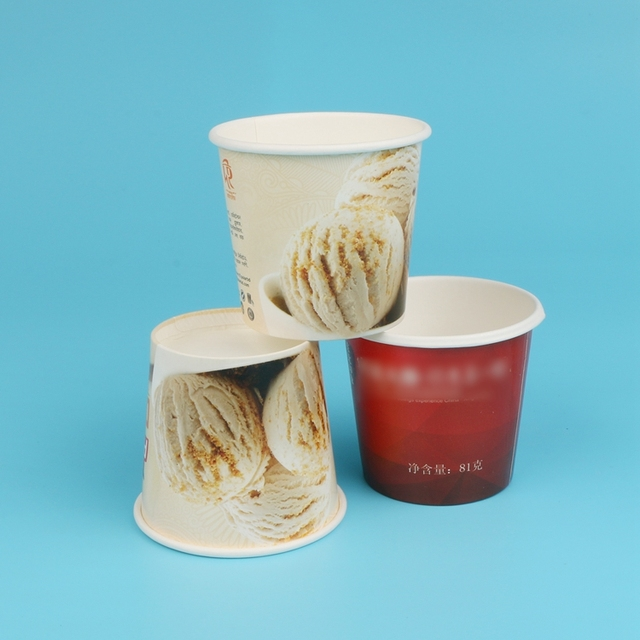 Custom Printed biodegradable ice cream paper cup 200ml