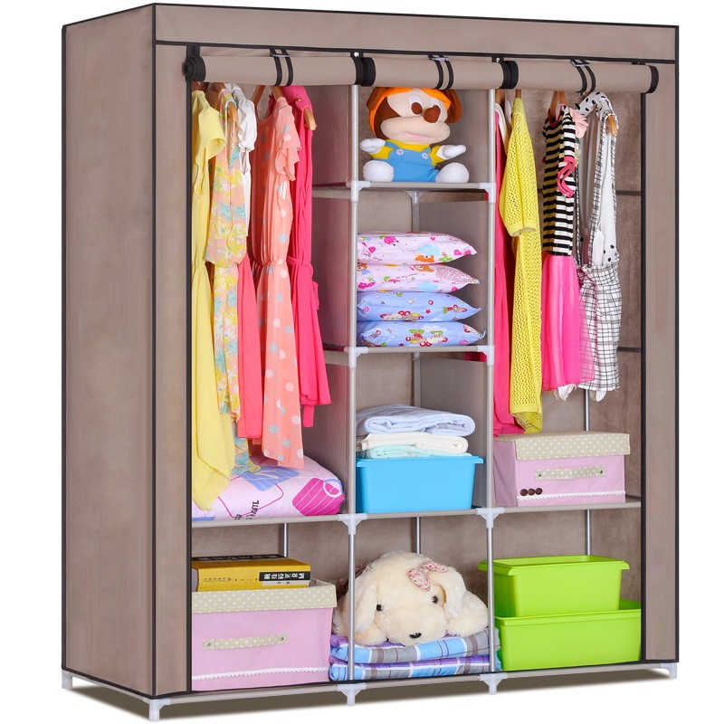 Hot detachable stackable double 6 tier storage rack fabric shoe rack shelf