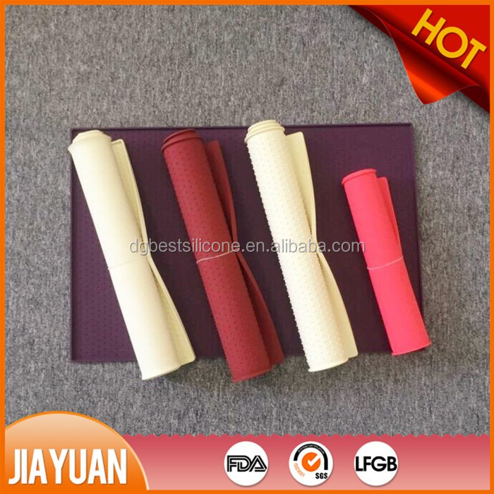 60*40cm rectangle silicone rubber pet food mat