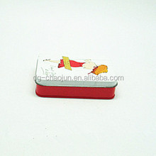 Skillful manufacture choreographed rectangular tin box card gift box