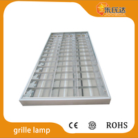 3*40W fluorescent ceiling light grid light t8 recessed mounted