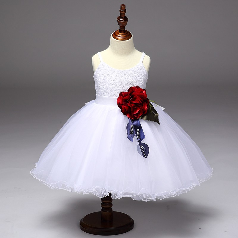 New kids party wear wedding frock designs simple wedding gown with cape evening dress L9023