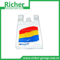 Modern Techniques Classical Polyester Vest Handle Pastic Bags T-shirt Shopping Bag