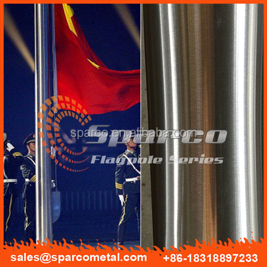 foshan factory external halyard stainless steel flagpole