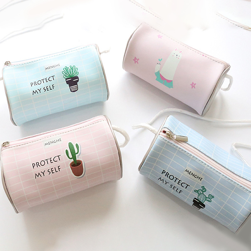 2017 new cute makeup bag pu bag