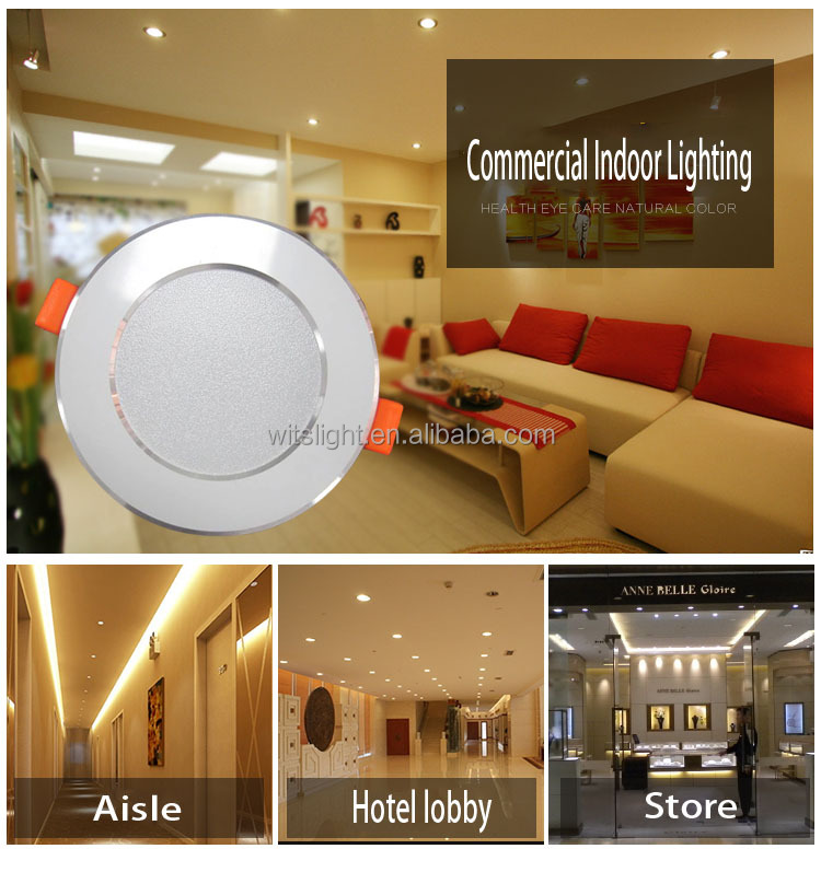 new type recessed 9W led light downlight for homes
