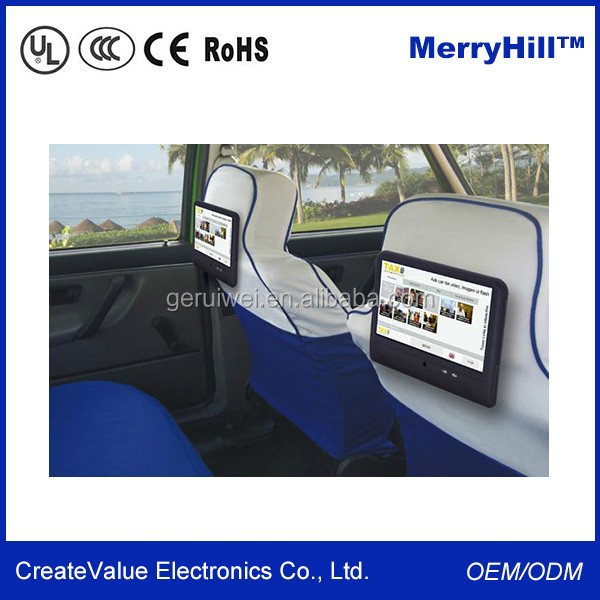 12V TFT LCD 7 Inch 8 Inch 9 Inch 10 Inch 12 Inch Back Seat TV For Car