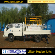 Cheap sale CE tracked boom lift /scissor lift truck