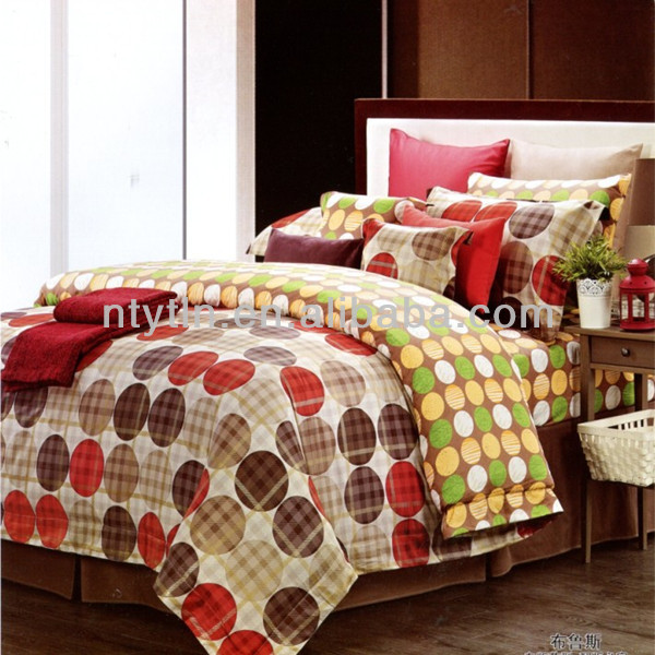 cotton fashional printed bed sheet set S-WS-8035