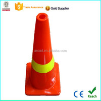 35''/900mm orange PVC traffic cone with high visible reflective thread