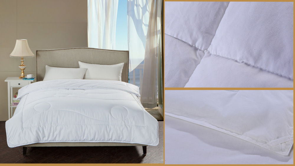 Irregular Hidden Pattern Polyester And Cotton Bedding For Resort Hotel