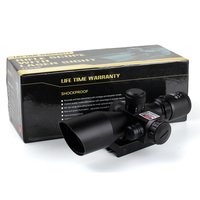 Tactical Hunting Kandar 2.5-10x40 Red green Illuminated Rifle Scopes With Red Laser