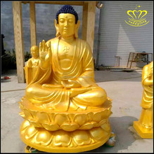 Beautiful Extremely High Quality Full Gold Plated Shakyamuni Buddha Statue