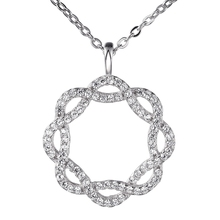 circle pendant necklace 925 sterling silver jewelry wholesale