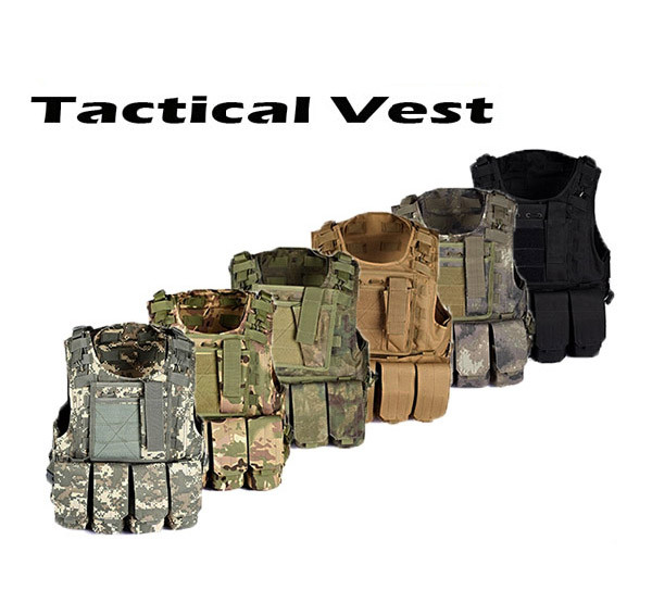 USMC Airsoft Tactical Military Molle Combat Assault Plate Carrier Vest Tactical vest 10 Colors CS outdoor clothing Hunting ves
