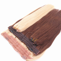 New design hot sale virgin high quality 100% remy cuticle flip in halo hair extension