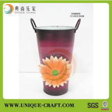 New product alibaba china supplier home decor flower pots outdoor metal planters standing