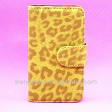 Leather Phone Case For Samsung i9100 Galaxy s2 Case Leopard Pattern