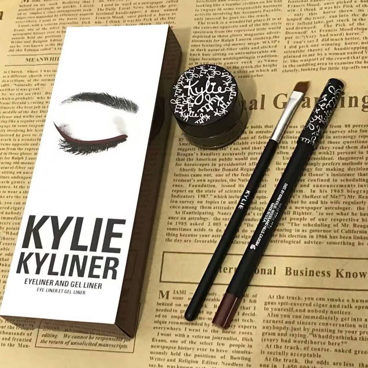 KYLIE KYLINER Eyeliner and Gel Liner Set Brown,Black and Dark bronze Makeup